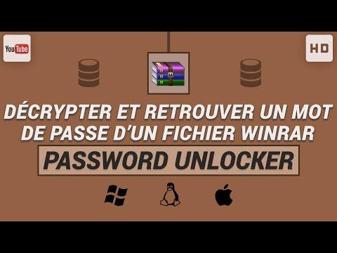 Comment décrypter et retrouver un mot de passe d'un fichier WinRAR