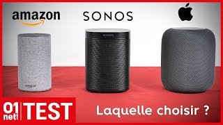 Le match audio des enceintes intelligentes - HomePod / Sonos One / Echo