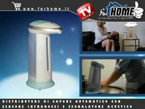 DISTRIBUTORE SAPONE AUTOMATICO SOAP DISPENSER per casa o ufficio