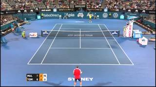 Tennis Highlights, Video - [HD]G. Muller (LUX) vs B. Tomic (AUS) Highlights 2015 Apia Sydney International
