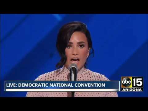 Demi Lovato en emotivo discurso