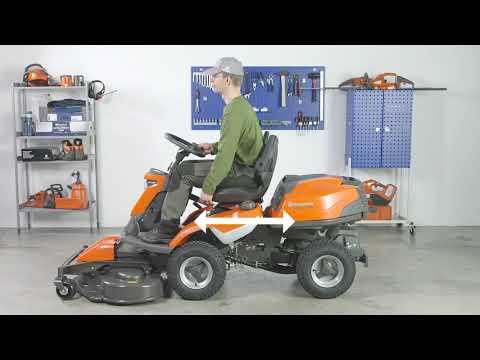Садовый райдер бензиновый HUSQVARNA R 316TX AWD - видео №2