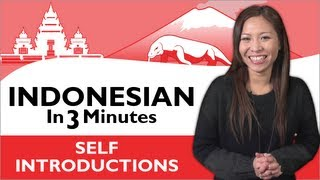 Click here to get our FREE App & More Free Lessons at IndonesianPod101: http://www.IndonesianPod101.com/video Learn Indonesian self-introductions with ...