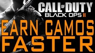 Black Ops 2 - How to Earn Weapon Camos Faster (Call of Duty BO2 Gold Diamond Gun Camo)