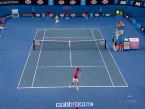 Australian open Tennis 2012 Semi fainal Nadal vs federer  highlight
