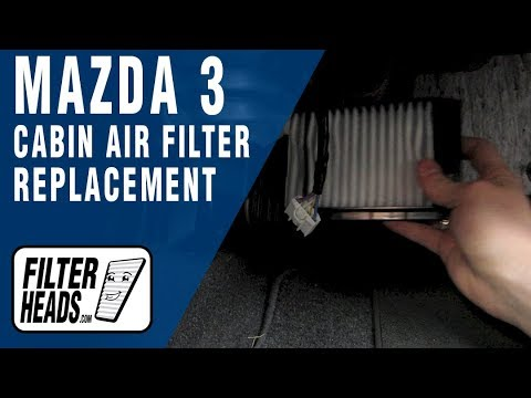 Cabin air filter replacement- Mazda 3