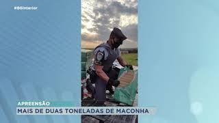 Duas toneladas de maconha apreendidas pela Polícia Rodoviária em Marília