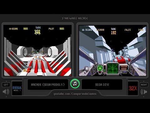 Star Wars Arcade (Arcade vs Sega 32X) Side by Side Comparison | Vc Decide