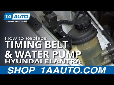 PART 1 How to Install Replace Timing Belt and Water Pump Hyundai Elantra