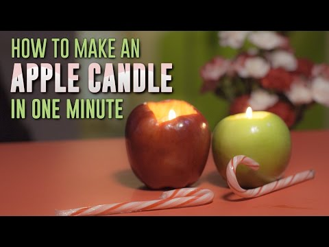 How To Turn an Apple in a LongBurning Candle