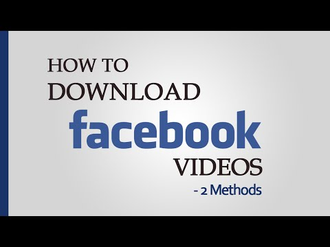 Watch 'How to Download Facebook Videos - 2 Methods - YouTube'