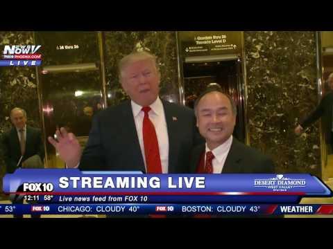 WATCH: Donald Trump Meets With SoftBank Chairman Masayoshi Son - FNN