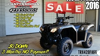 6. 2016 Rancher 420 Camo Auto DCT / IRS / EPS Review - ATV SALE @ Honda of Chattanooga (TRX420FA6G)