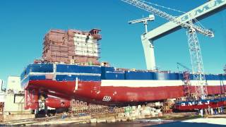 Video Launching of the first Algoma 650ft self-unloader Great Lakes Bulk Carrier (Hull No. 732) MP3, 3GP, MP4, WEBM, AVI, FLV Oktober 2018