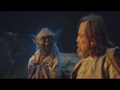 Star Wars: The Last Jedi Yoda's Force Ghost Scene [1080p HD]