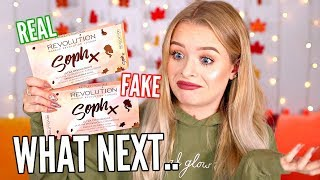 FAKE VS REAL- MY OWN PALETTES HAVE FAKES ON WISH?! I ORDERED ONE.. WHAT NEXT 😂| sophdoesnails