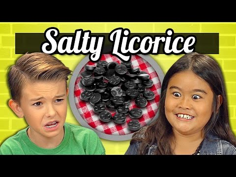 Kids React to Tasting Salmiakki Super Salty
