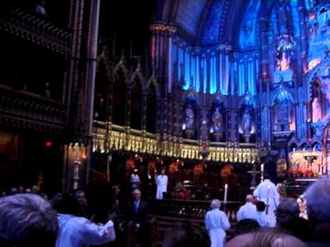 Notre Dame Cathedral Midnight mass in Montreal