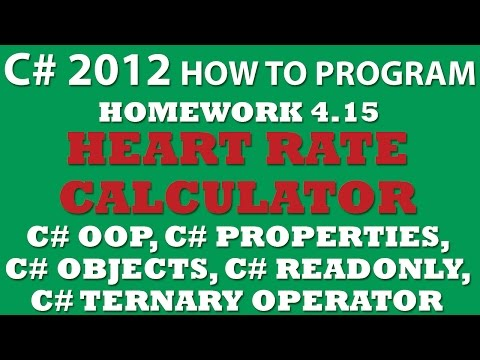 C# Programming Challenge 4.15: Target Heart Rate Calculator (C# OOP, C# Properties, C# objects)