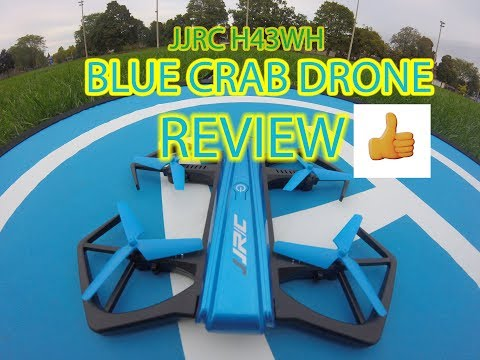 JJRC H43WH BLUE CRAB DRONE 720P FOLDABLE DRONE UNBOX/FLIGHT REVIEW IN RAIN (видео)