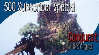 [500 Subscriber Special] Minecraft 1.10.2 Conquest Reforged medieval fort Timelapse + world Download