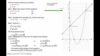 Simultaneous Linear and Quadratic Equation