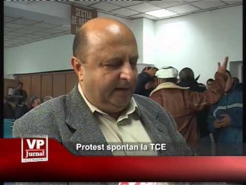 Protest spontan la TCE