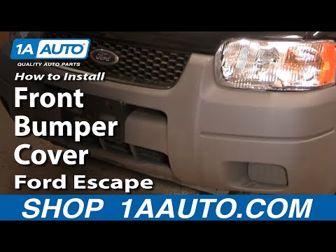 How To Install Replace Front Bumper Cover Ford Escape 01-07 1AAuto.com