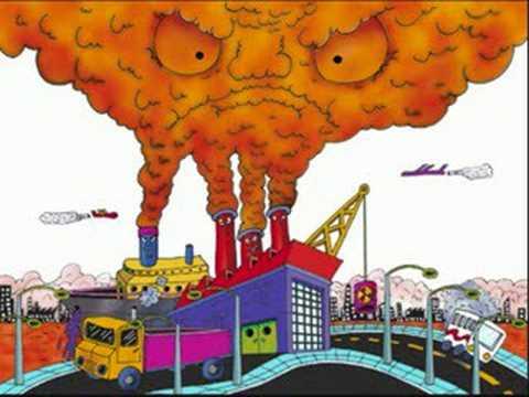 contaminacion del aire para colorear