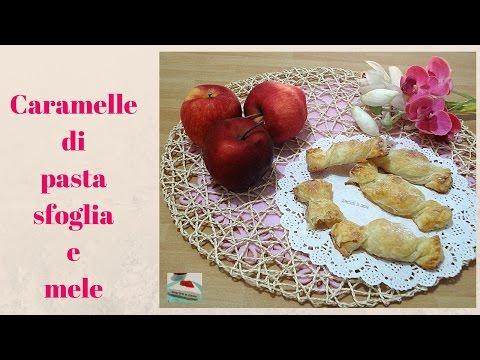 video ricetta: caramelle di pasta sfoglia con mele