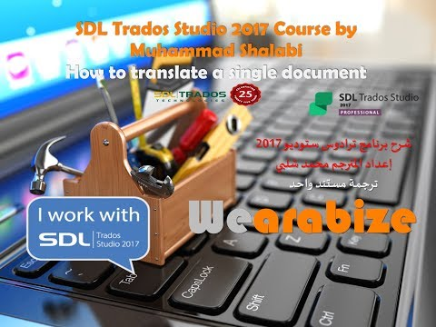 SDL Trados Studio 2017 Course by Muhammad Shalabi - How to translate a single document