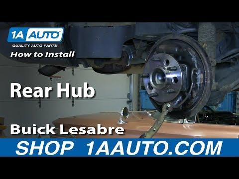 How To Install Replace Rear Hub 1992-99 Buick Lesabre Pontiac Bonneville