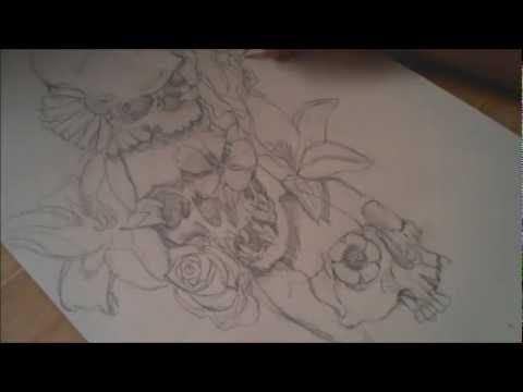 Script Tattoo Design Drawings
