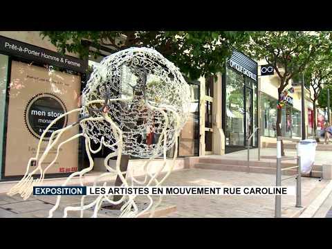 """""""Artists in movement"""" in the rue Princesse Caroline"""