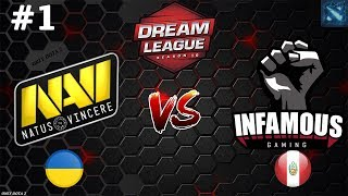 БИТВА за ЖИЗНЬ! | Na`Vi vs Infamous #1 (BO3) | DreamLeague Season 10