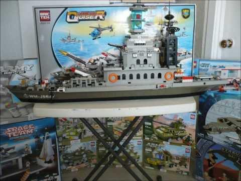 comment construire un bateau de guerre en lego
