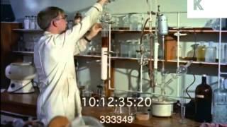 1960s UK University, Laboratory Science, Experiments, 35mm Archive