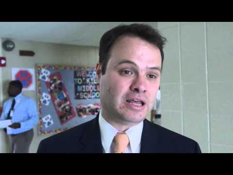 State Sen. Eric Lesser and officials tour Springfield schools