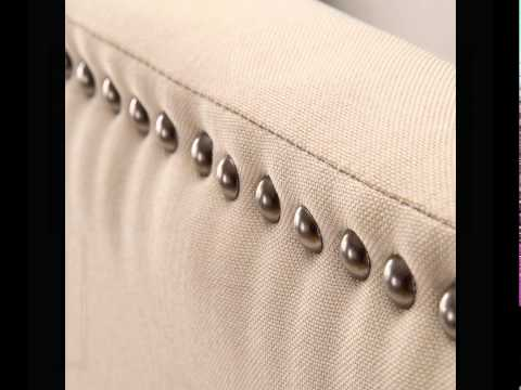 Zinus Faux Leather Upholstered Top.