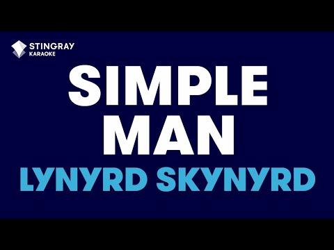 Simple Man in the style of Lynyrd Skynyrd, karaoke video with lyrics, no lead vocal