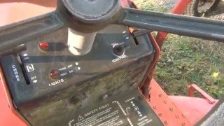 I had the idea to use a DPDT momentary to replace the ignition switch on my Gravely 8123 garden tractor.