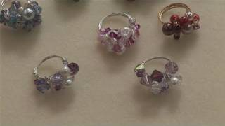 How To Create Beaded Rings - YouTube
