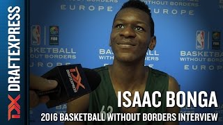 Isaac Bonga Interview from NBA Basketball Without Borders Europe Camp