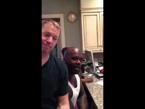 Gary Owen gets Shaq's help at 24 Fitness