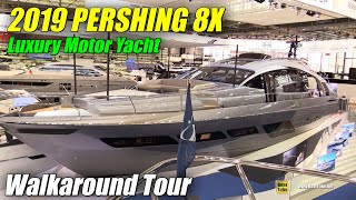 Video 2019 Pershing 8X Luxury Motor Yacht - Walkaround - Debut at 2019 Boot Dusseldorf MP3, 3GP, MP4, WEBM, AVI, FLV Maret 2019