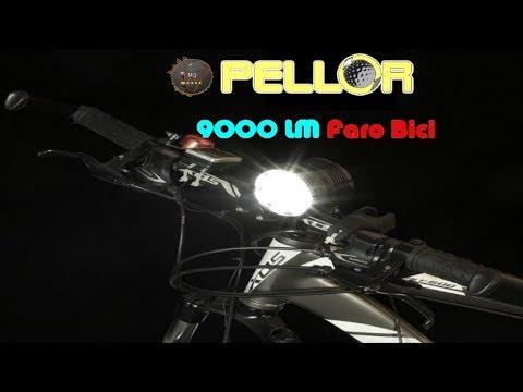 🎬AMAZON►Pellor 9000 LM mountainbike Bicicletta Faro Anteriore Professionale MTB