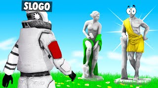 I HID As A STATUE And He Had No Clue! (GMod Prop Hunt)