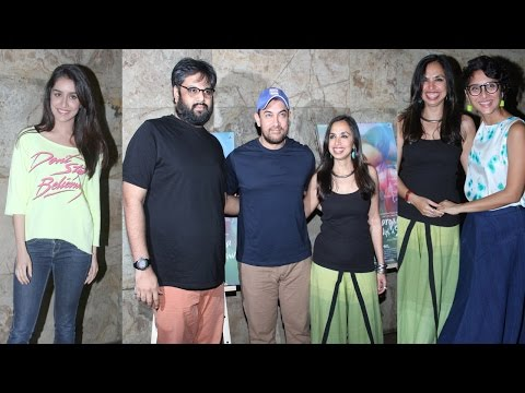 Aamir Khan, Shraddha Kapoor & Others At Screening Of Film Margarita With A Straw