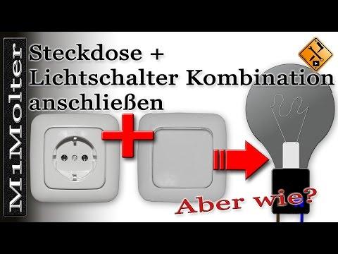 Steckdose + Lichtschalter Kombination anschließen von M1Molter