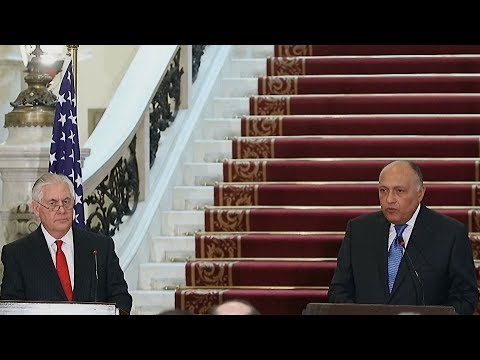US Secretary of State Rex Tillerson begins regional tour in Egypt